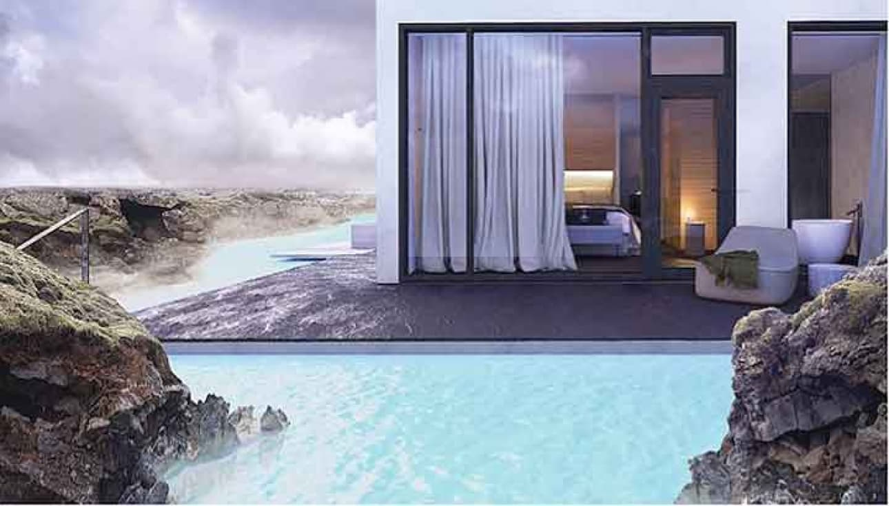 Opening of the retreat at blue lagoon, iceland